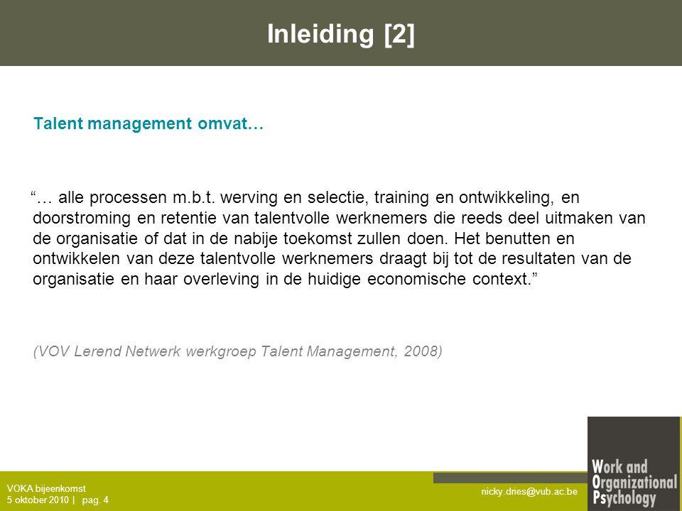Inleiding [2] Talent management omvat…